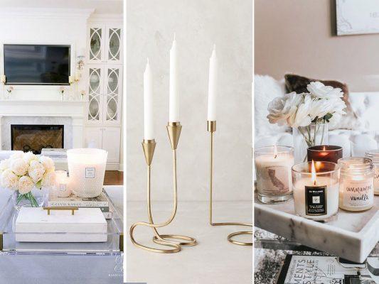 پذیرایی و نشیمن خانه,شمع معطر