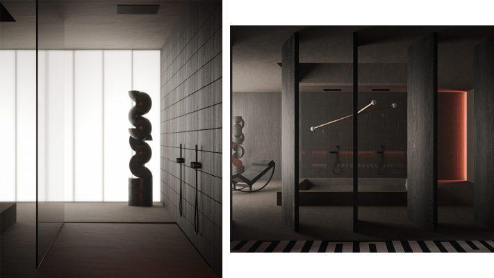 طراحی دکوراسیون داخلی مدرن تیره