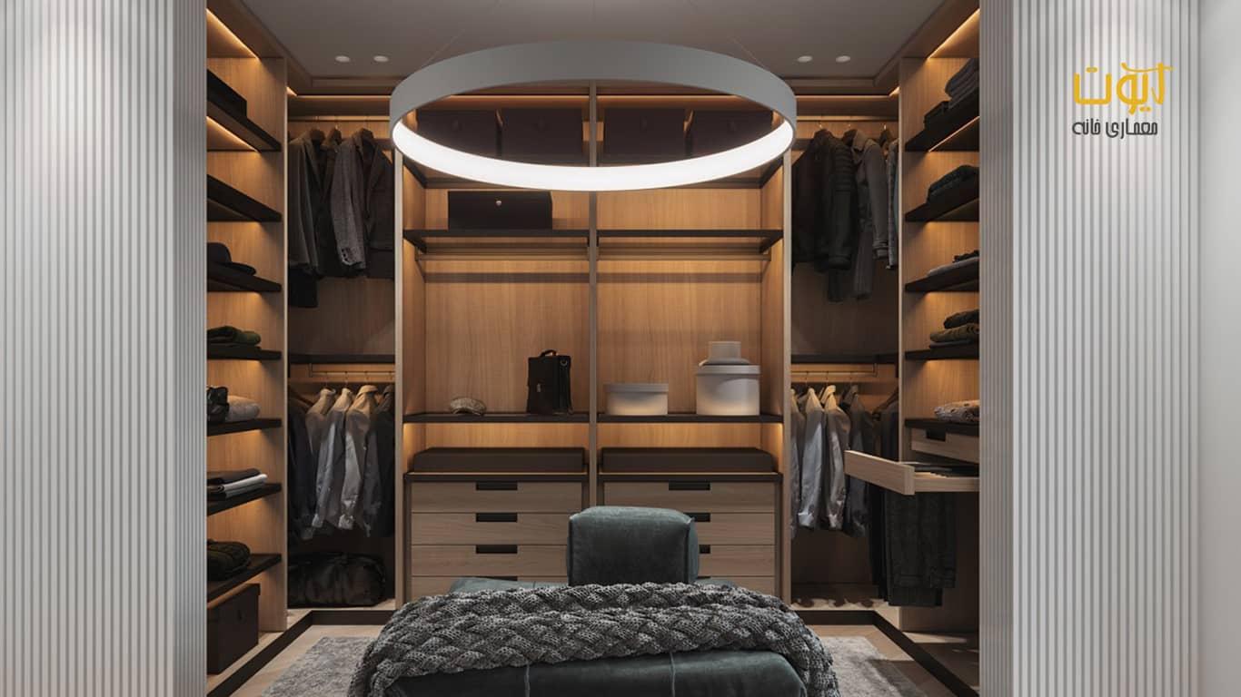 نورپردازی اتاق لباس